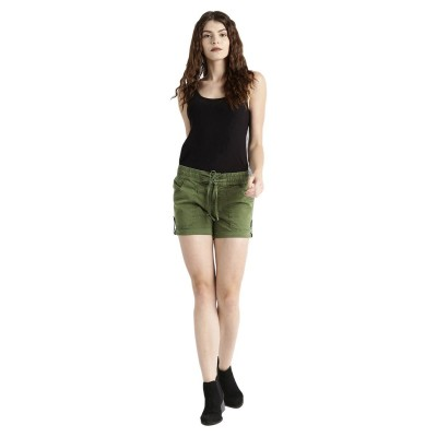 Roadster olive green women regular fit hot pant